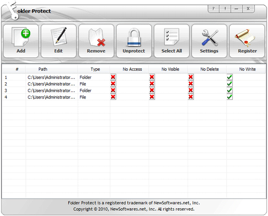 How to make my files write protected?