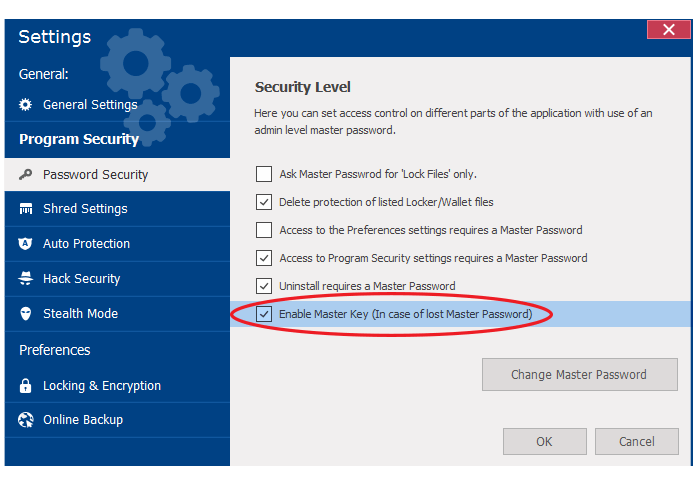Recover your password easily - Folder Lock