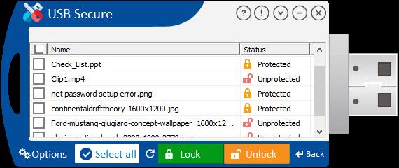 برنامج حماية الفلاش بكلمة Secure 2.1.2